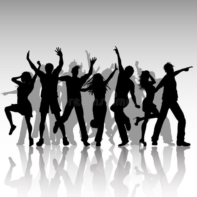 Partyjni ludzie Tanczyć ilustracja wektor