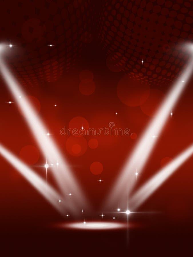 Partyjny światło reflektorów muzyki tło ilustracja wektor