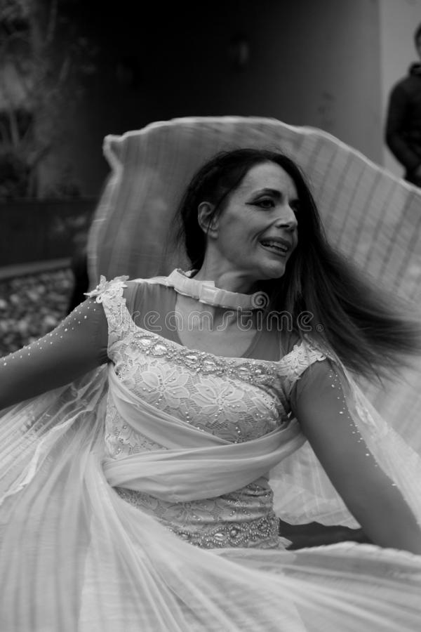 Partyjny dl patron Concorezzo Lombardy, Włochy 11/11/2018 fotografia stock