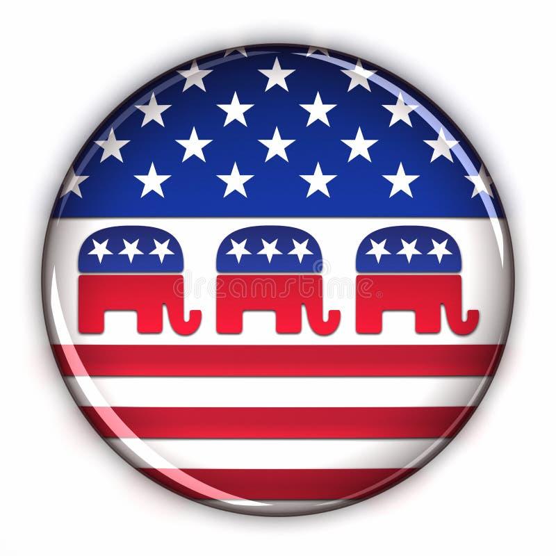 partyjny guzika republikanin ilustracji