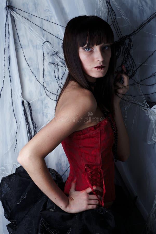 partyjny Halloween piękny wampir zdjęcie royalty free