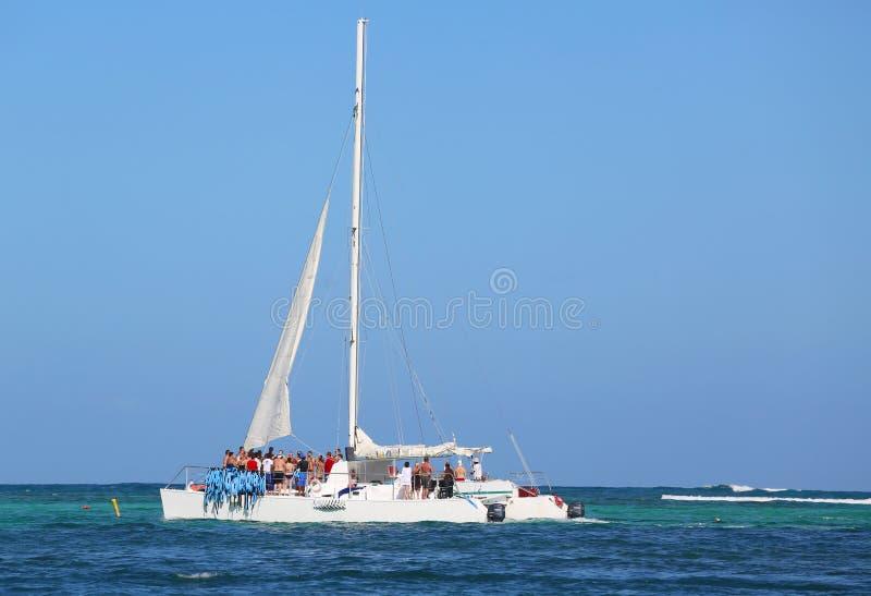 Partyjny jacht w Punta Cana, republika dominikańska zdjęcie stock