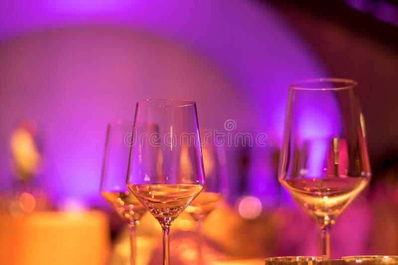 Partyjny położenie z Kolorowym Bokeh tłem zdjęcie royalty free