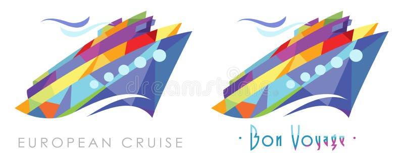 Partyjny rejsu logo ilustracja wektor
