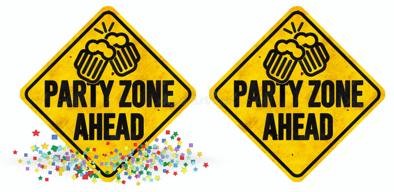 Partyjny strefa znak royalty ilustracja
