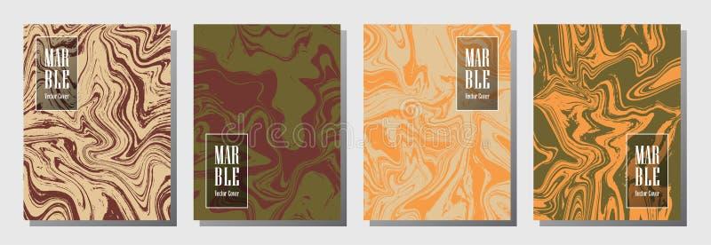 Partyjny ulotki lub czasopisma pokrywy marmuru tło deseniuje wektoru set ilustracja wektor