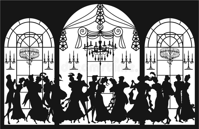 partyjny wiktoriański ilustracji