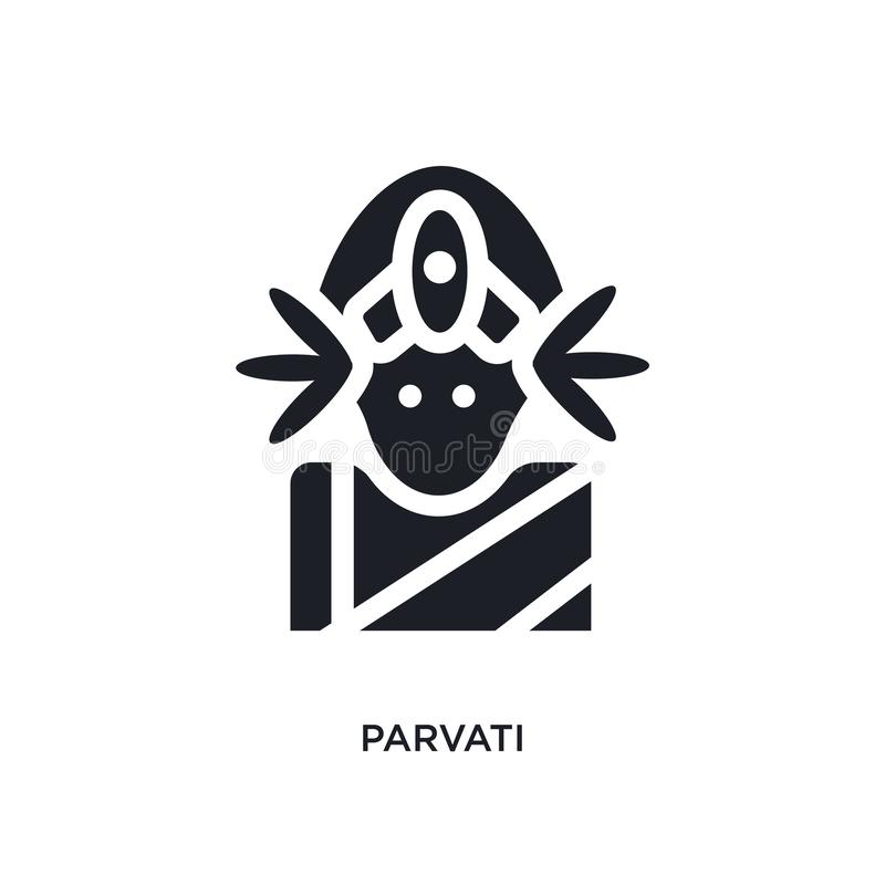 parvati isolated icon. simple element illustration from india concept icons. parvati editable logo sign symbol design on white royalty free illustration