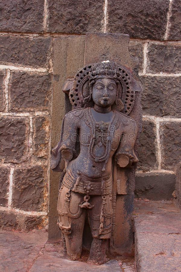 Parvati Statue, Bhuleshwar Temple Entrance, Maharshtra. India stock images