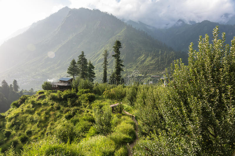 Parvati valley scenery - India stock image