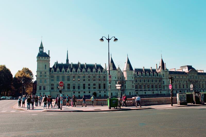 Paryż widzieć od wontonu Rzecznego pont Neuf obraz royalty free