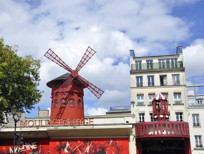Paryż, august 18,2013-Moulin szminki kabaret w Paryż zdjęcia royalty free