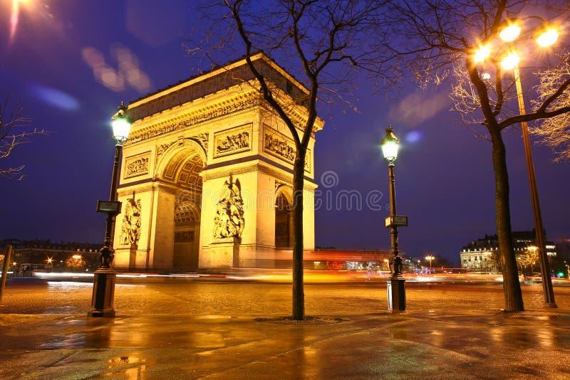 Paryż etoile zdjęcie royalty free