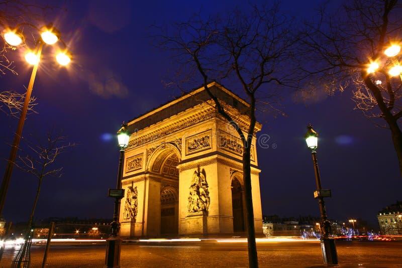 Paryż etoile zdjęcia royalty free