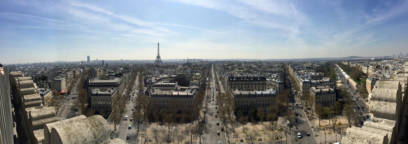 Paryż, Francja panorama zdjęcia royalty free