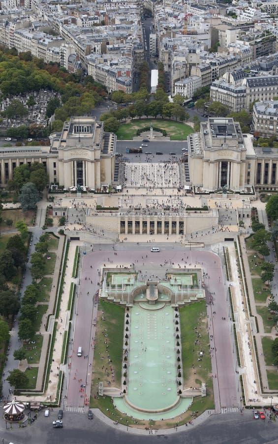 Paryż Francja, Sierpień, - 21, 2018: Miastowa panorama i Trocadero zdjęcie royalty free