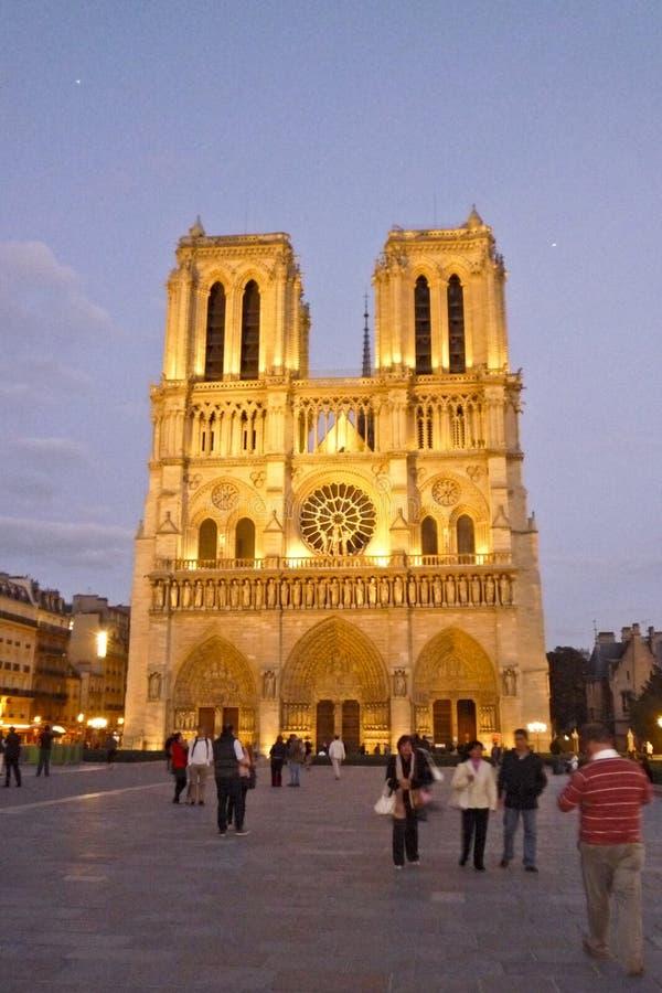 Paryż Francja, Wrzesień, - 16, 2010: Notre Dame De Paris - kościół katolicki w centrum Paryż zdjęcia stock