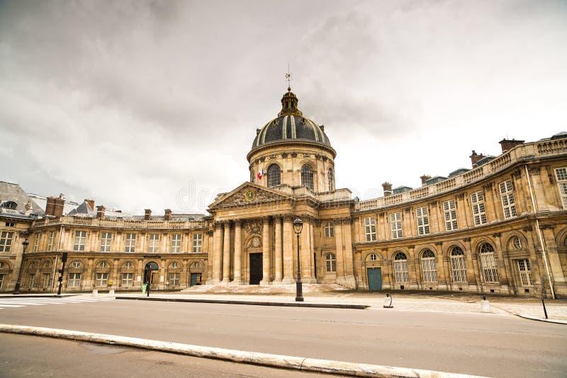 Paryż, Institut de Francja budynek. Francuska akademia nauki obrazy stock