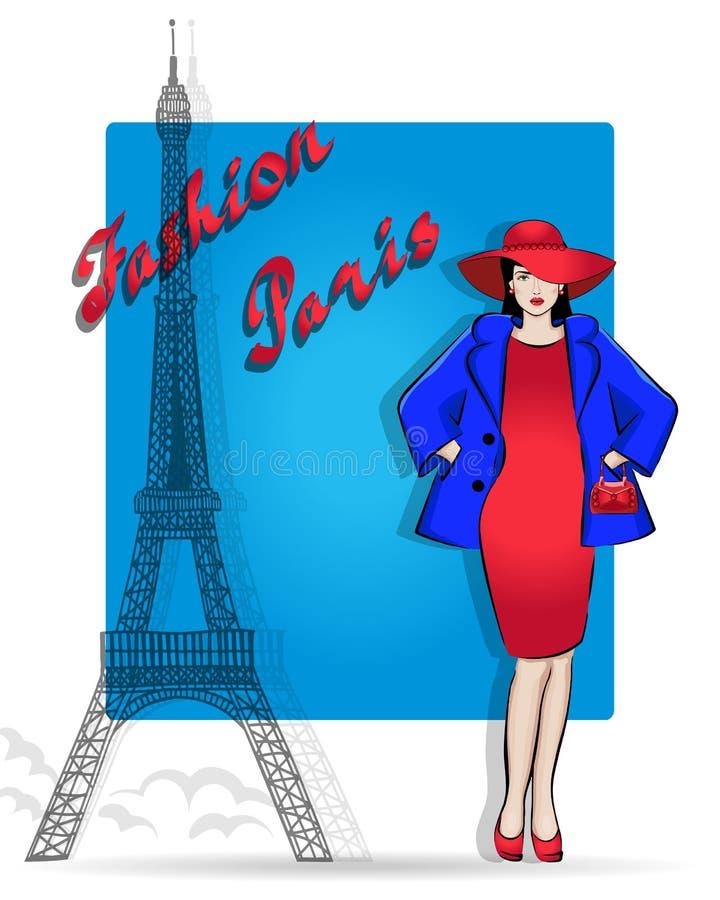 Paryż jest kapitałem moda Zakupy i akcesoria ilustracji