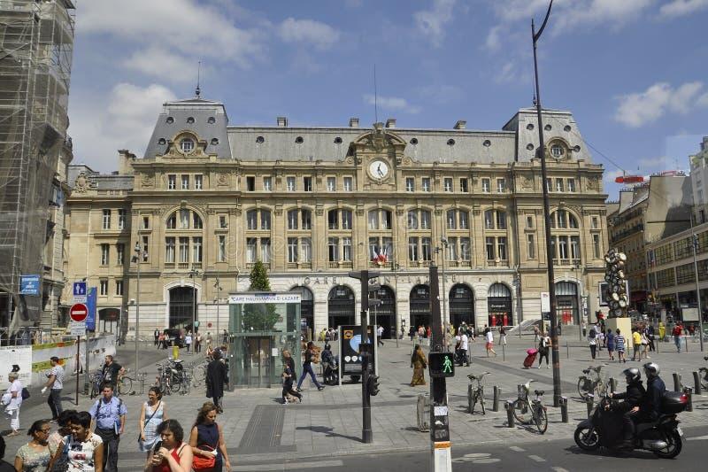 Paryż, Lipiec 15: Gare święty Lazare od Paryż w Francja zdjęcie royalty free