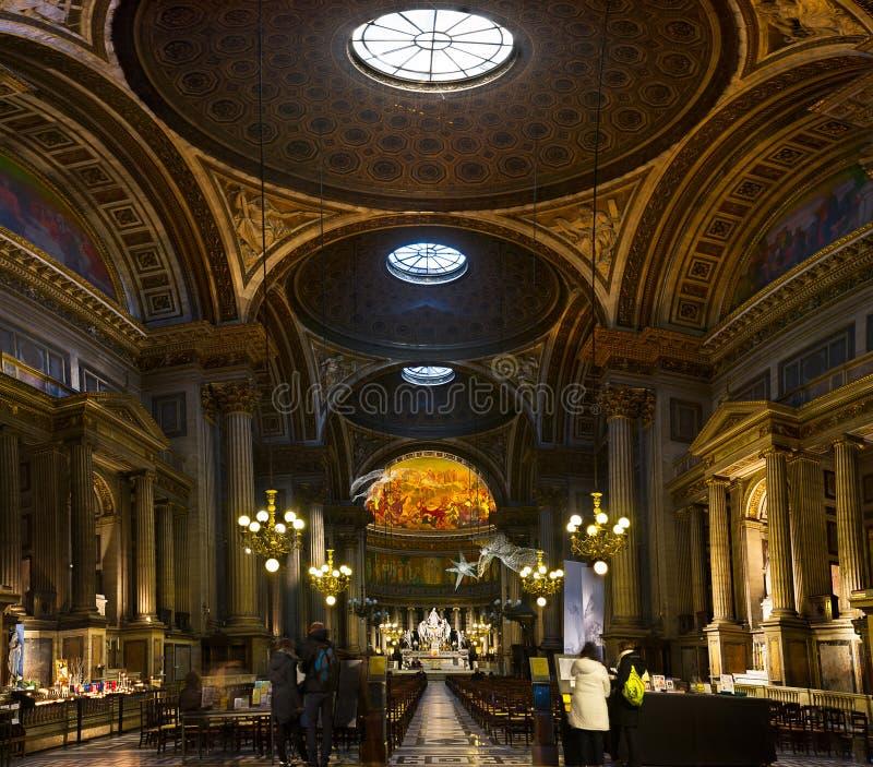 Paryż - losu angeles Madeleine kościół fotografia stock