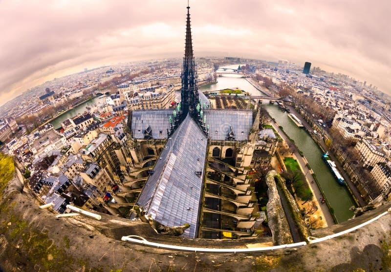 Paryż od Notre Damae, Francja obraz royalty free