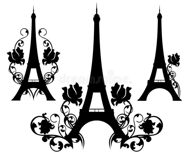 Paryż w kwiatach royalty ilustracja