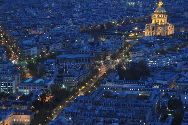 Paryż w nocy obrazy stock