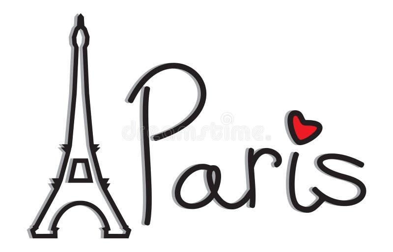 Paryż - wieży eifla retro karta ilustracja wektor