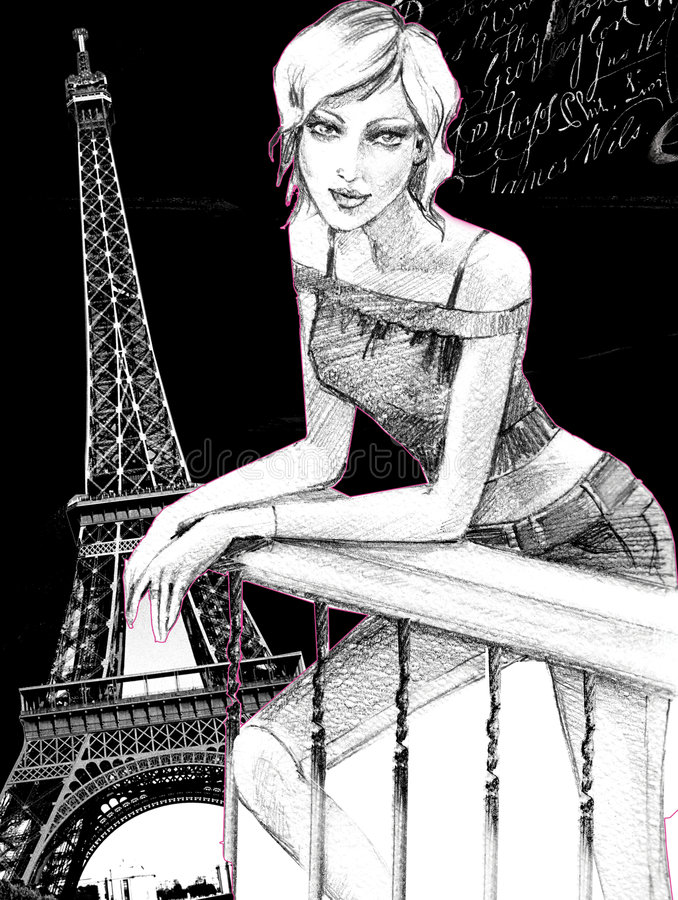 Paryżanin royalty ilustracja