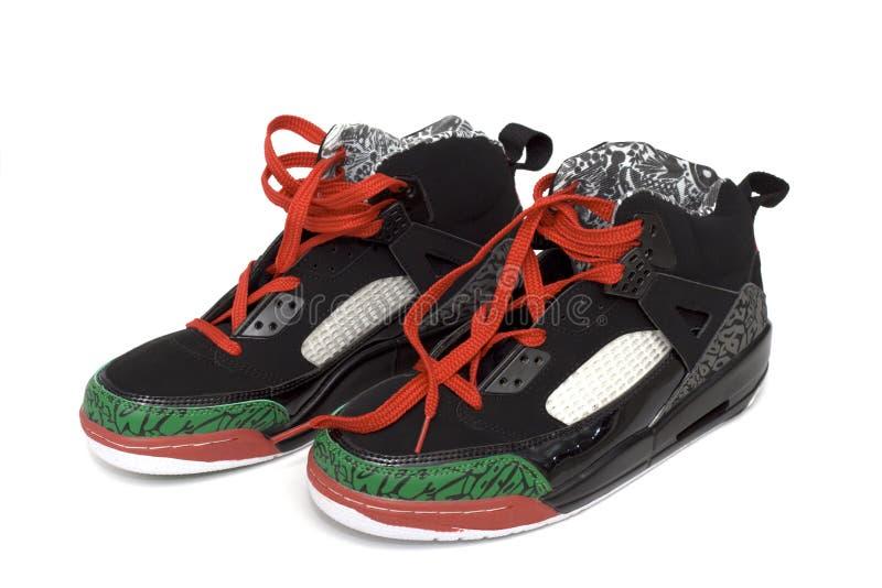 pary butów koszykówki zdjęcia stock