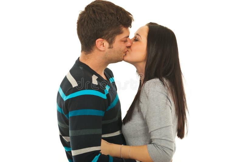 pary całowania target2376_0_ zdjęcia stock