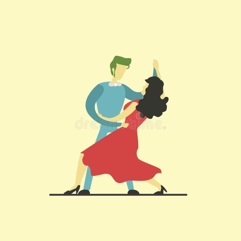 pary dancingowy ilustracyjny musicalu wektor zdjęcie royalty free