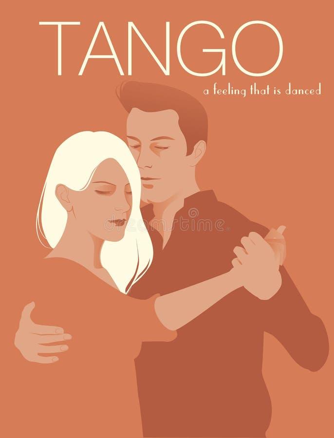 Pary dancingowy tango ilustracja wektor