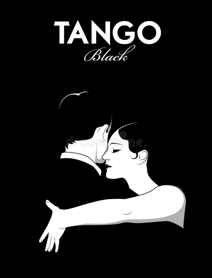 Pary dancingowy tango royalty ilustracja