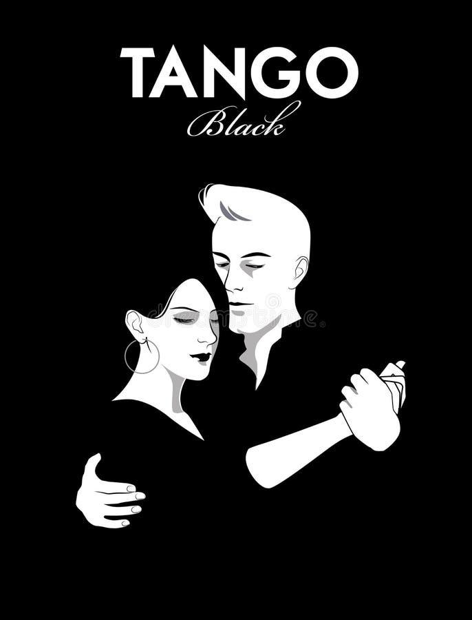 Pary dancingowy tango ilustracji