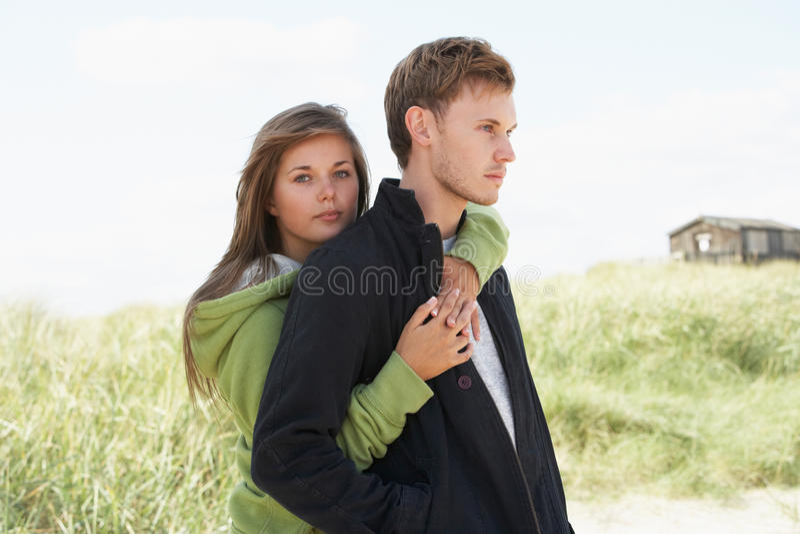 pary diun romantyczni trwanie potomstwa fotografia stock