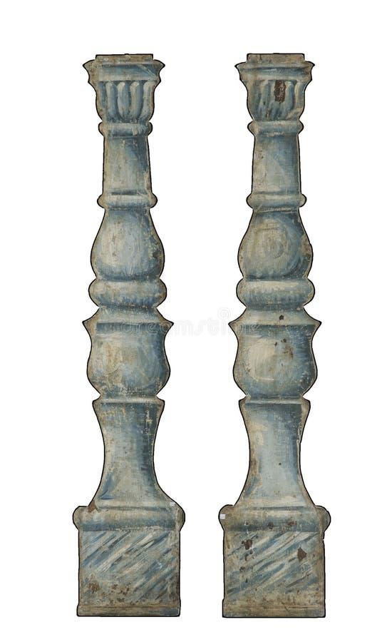 Pary faux kolumny malować dla theatre zdjęcie royalty free