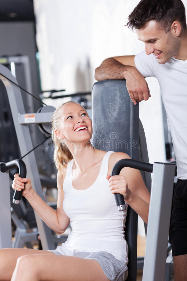 pary gym obraz royalty free