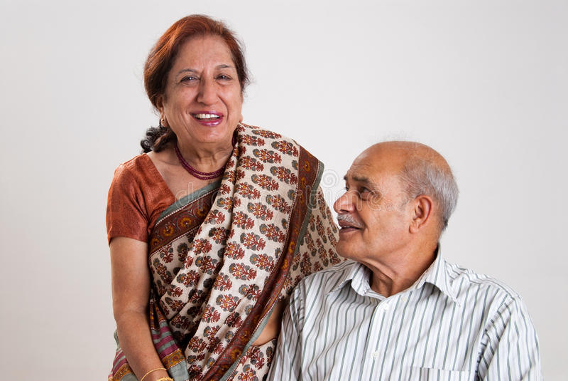 pary hindusa senior fotografia royalty free