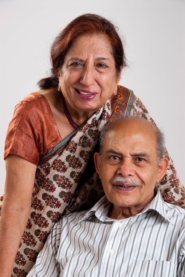pary hindusa senior zdjęcie stock