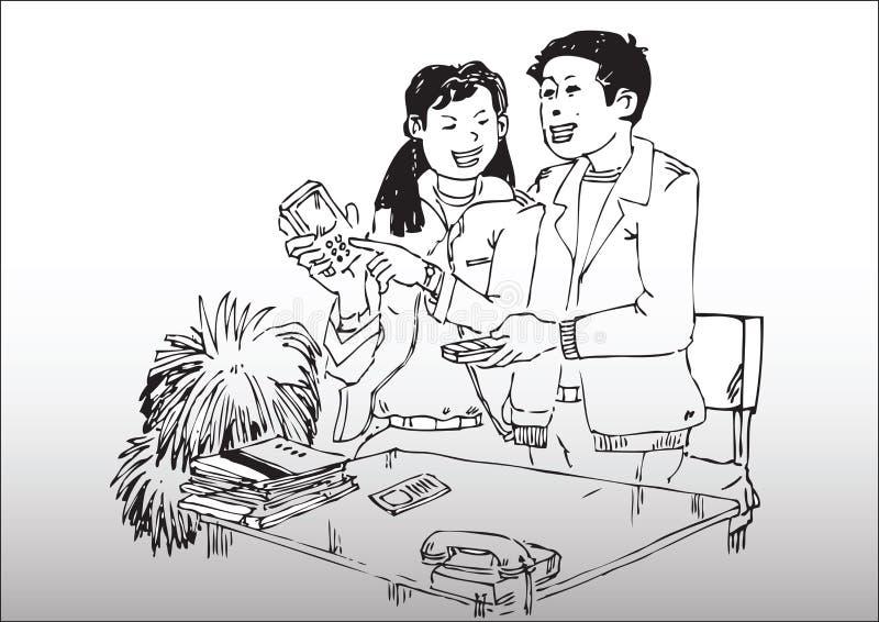 Pary ilustracja royalty ilustracja