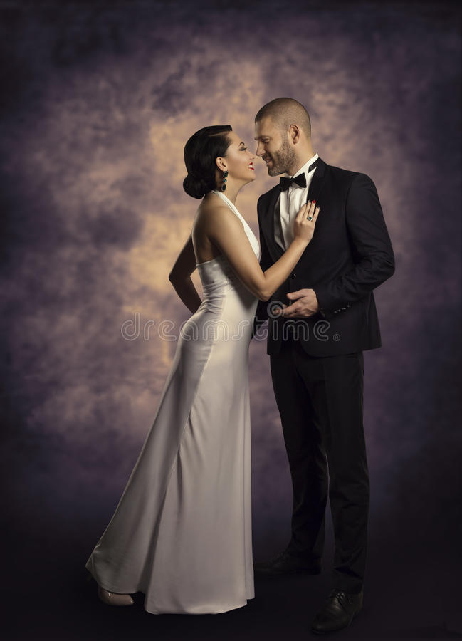 Pary kobieta w miłości i, mody piękna portret fotografia royalty free