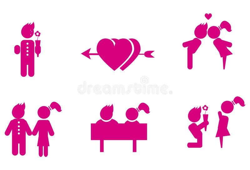 pary miłość ilustracji