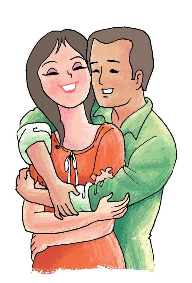 pary miłość royalty ilustracja
