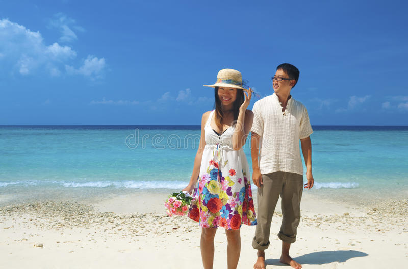 Download Pary miesiąc miodowy obraz stock. Obraz złożonej z wyspa - 19494499