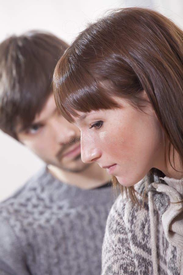 pary nieszczęśliwy smutny zdjęcie royalty free