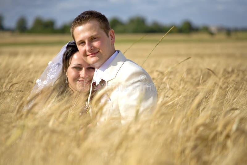 Download Pary plenności żyta ślub obraz stock. Obraz złożonej z bride - 13327331