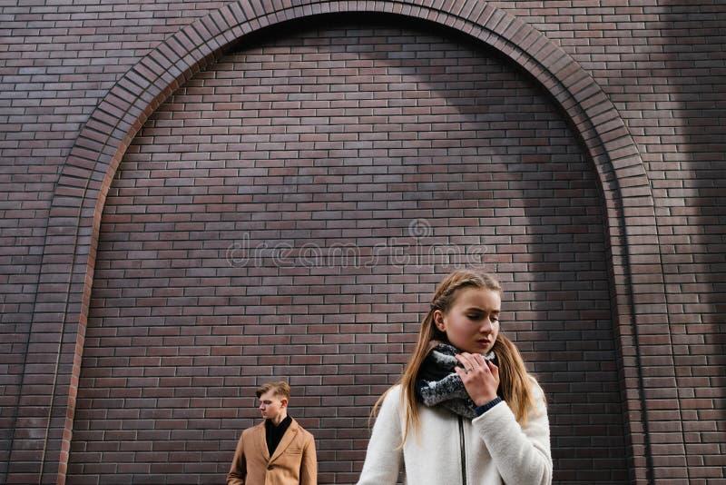 Pary rozbicia dziewczyny związku smutny konflikt obraz royalty free