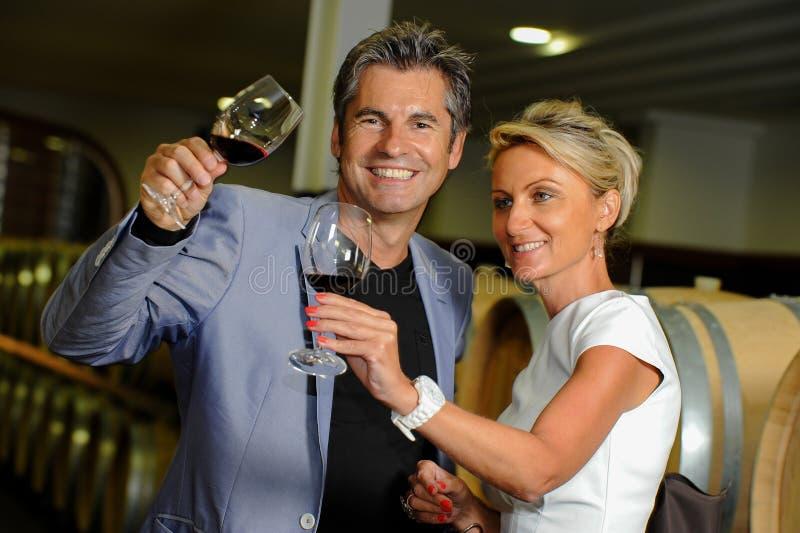 Pary smaczny wino w lochu obrazy royalty free